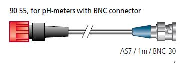 AS7 cable / 1M / BNC. For instruments with BNC connector