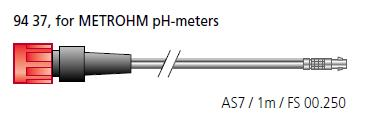 AS7 cable / 1M / FS00-250, for METROHM pH-meters