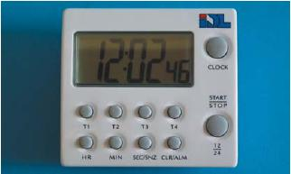 MULTI-TIMER DIGITAL TM-44 4 TIMER, COUNT DOWN/COUNT UP 99 HOURS