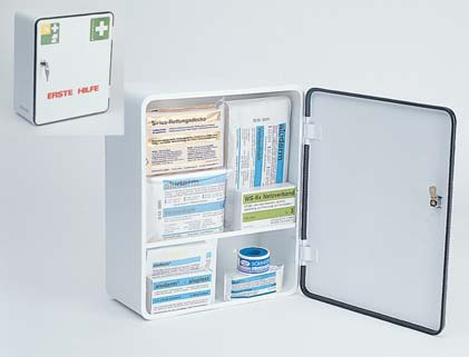 First aid cupboard DIN 13157